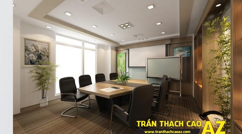 Không gian văn phòng hiện đại nhờ làm trần thạch cao