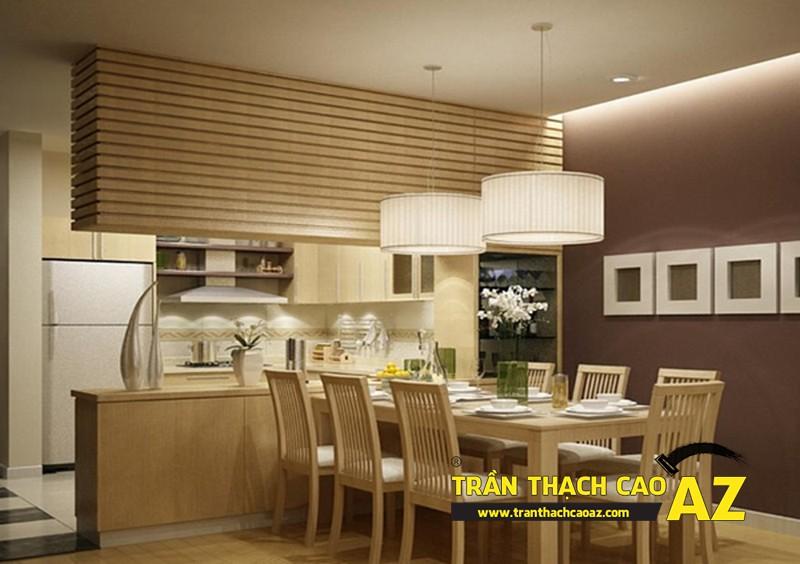 Xu hướng thiết kế mẫu trần thạch cao cho phòng bếp đẹp 2017