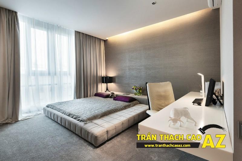 Thiết kế trần thạch cao phòng ngủ theo xu hướng đơn giản mà đẹp