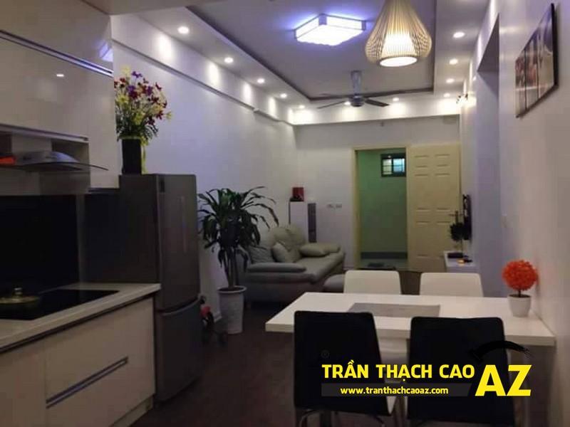 Thiết kế trần thạch cao phòng bếp, phòng ăn theo xu hướng có điểm nhấn sâu, tạo ấn tượng mạnh 01