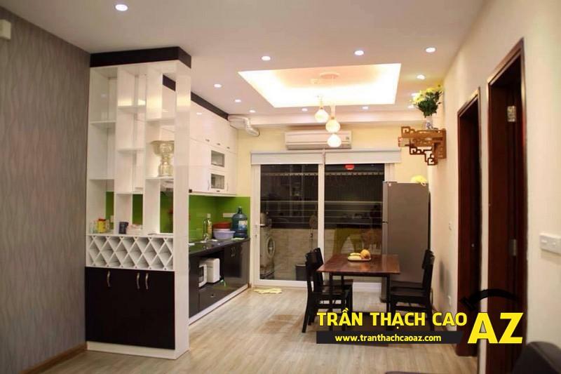 Thiết kế trần thạch cao phòng bếp, phòng ăn theo xu hướng có điểm nhấn sâu, tạo ấn tượng mạnh 02