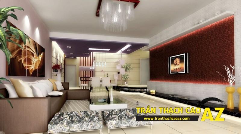 Nhà đẹp với xu hướng thiết kế trần thạch cao đơn giản - mẫu 3