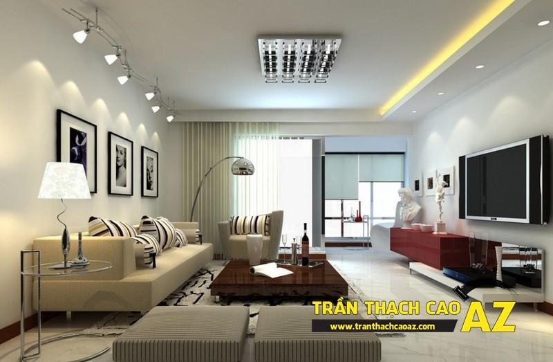 Nhà đẹp với xu hướng thiết kế trần thạch cao đơn giản - mẫu 5
