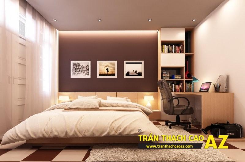 Mẫu trần thạch cao phòng ngủ vợ chồng đẹp cho nhà chung cư