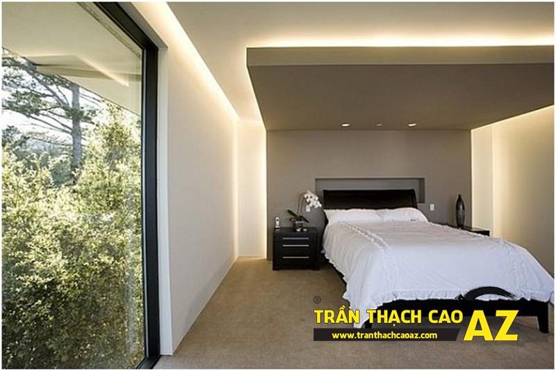 Mẫu trần thạch cao hợp phong thủy cho phòng ngủ vợ chồng tại nhà phố - nhà ống