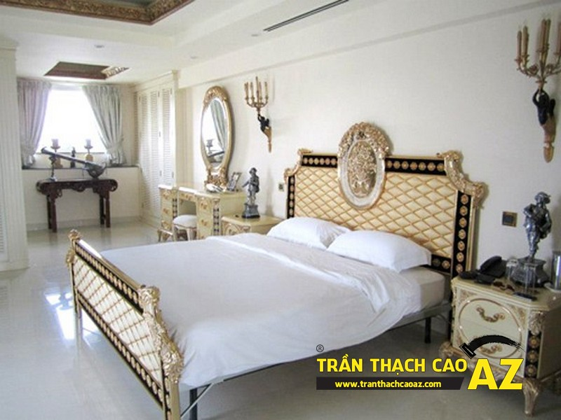 Trần thạch cao phòng ngủ theo phong cách hiện đại cho nhà biệt thự