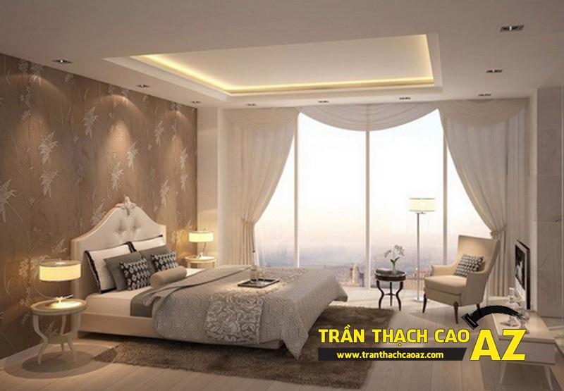 Trần thạch cao phòng ngủ theo phong cách hiện đại tại biệt thự