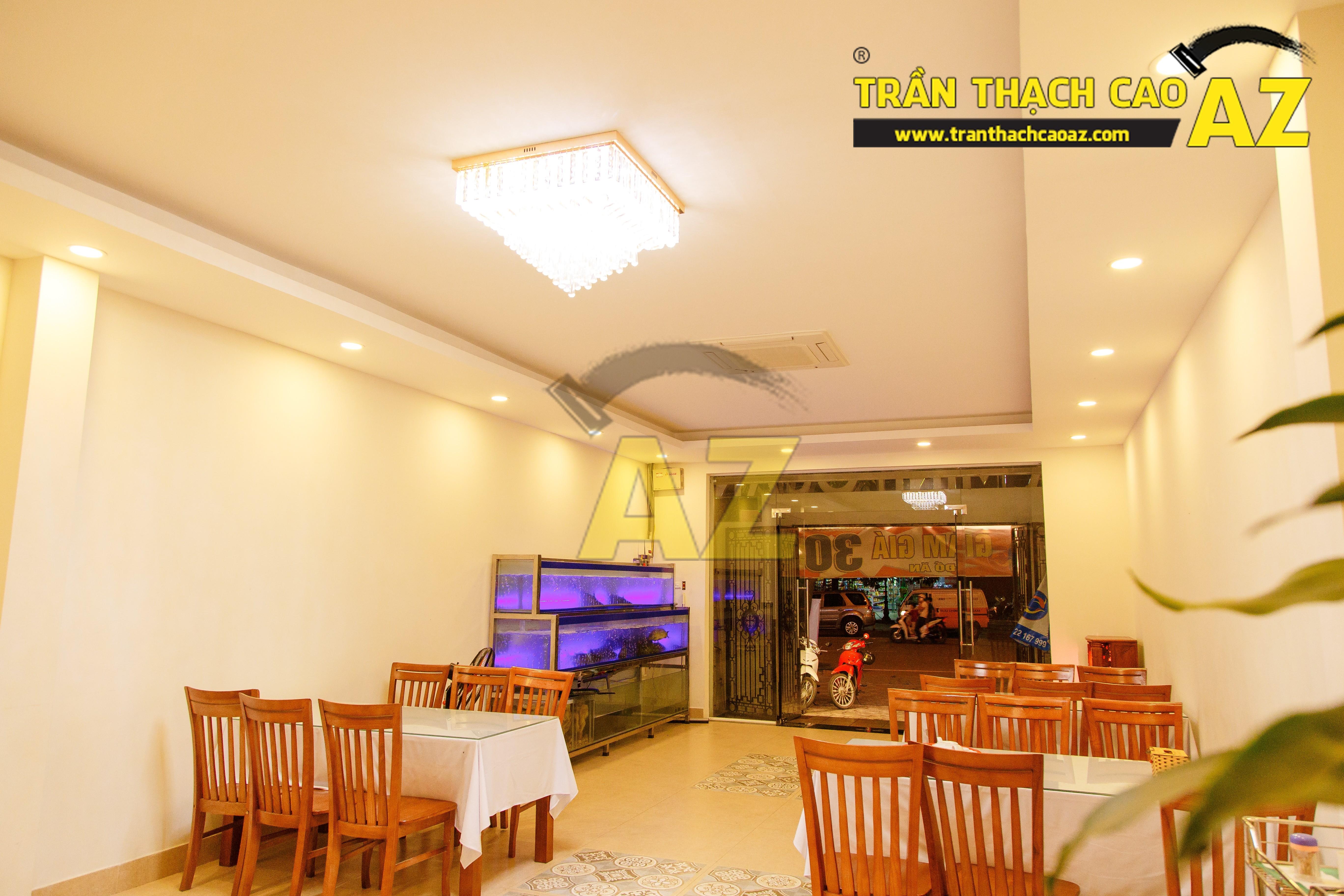Mẫu trần thạch cao nhà hàng đẹp 01