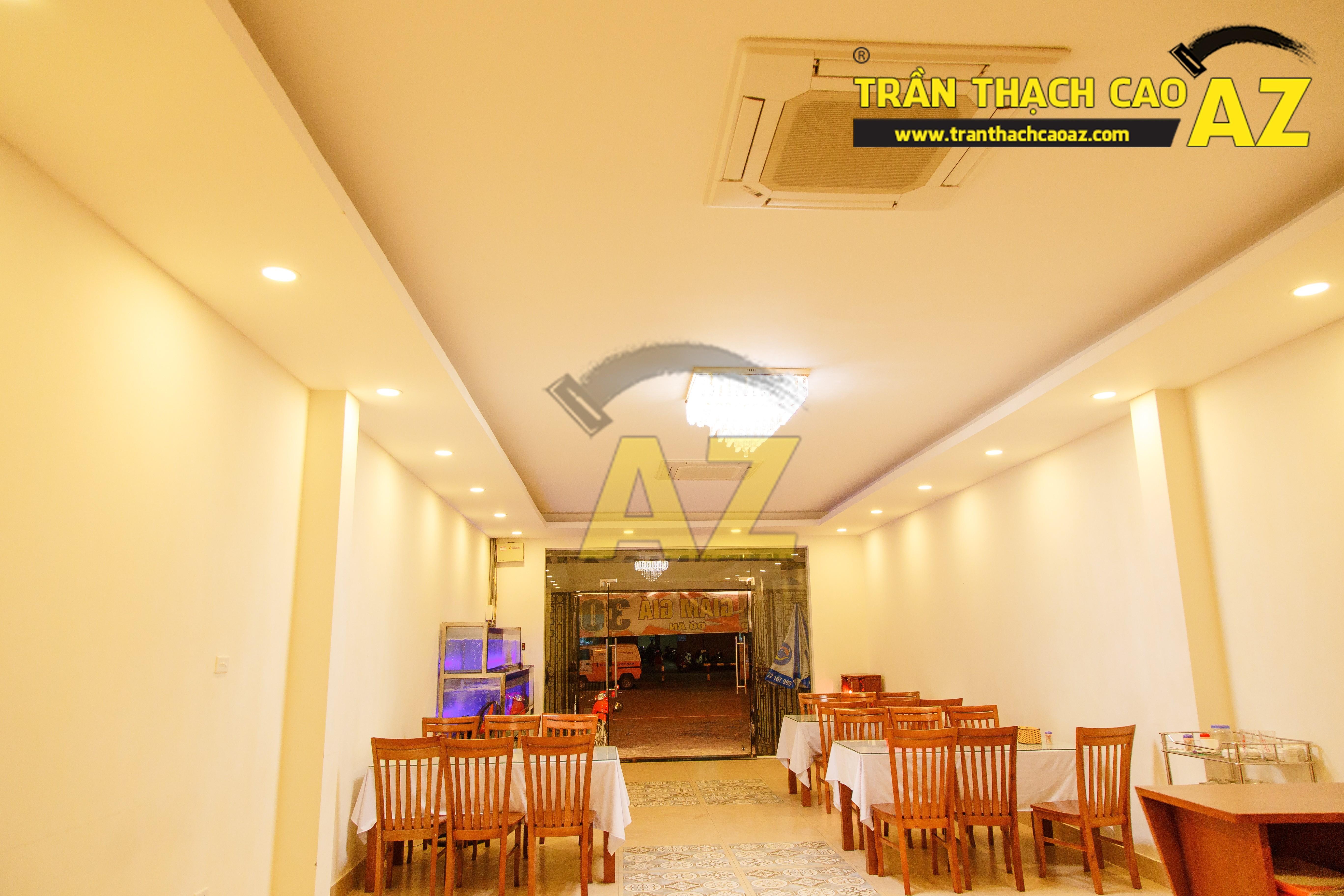 Mẫu trần thạch cao nhà hàng đẹp 03