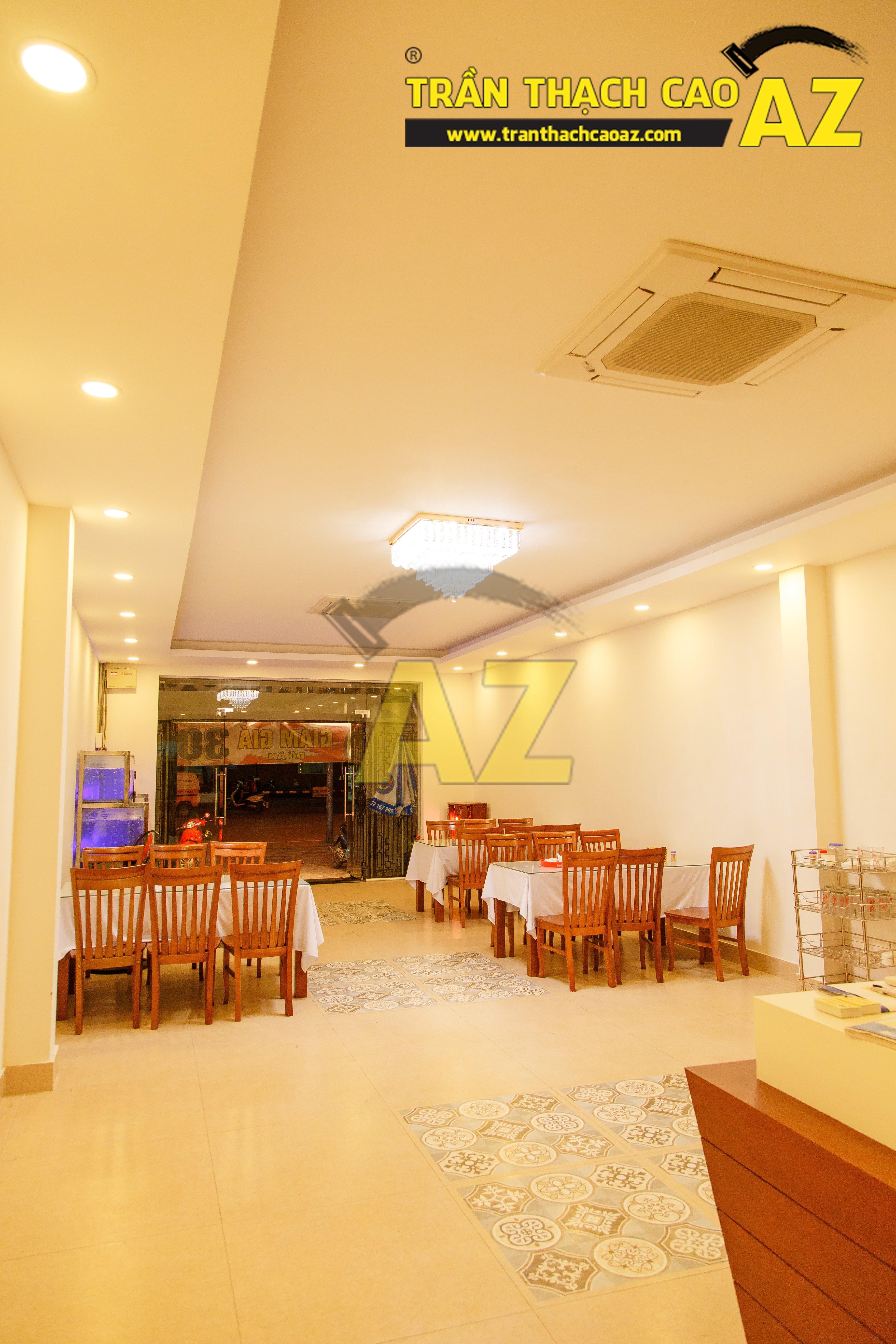 Mẫu trần thạch cao nhà hàng đẹp 05
