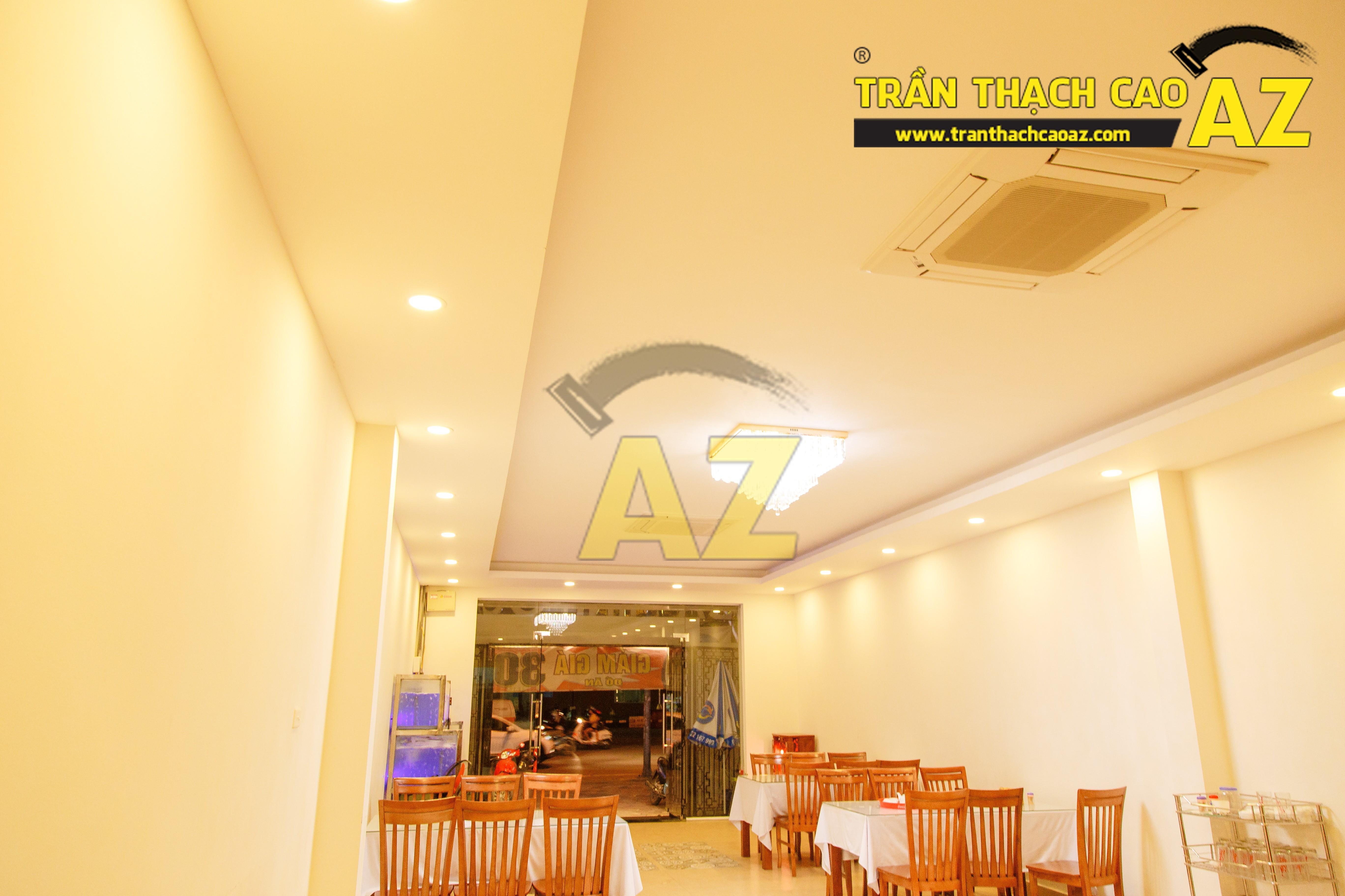 Mẫu trần thạch cao nhà hàng đẹp 08