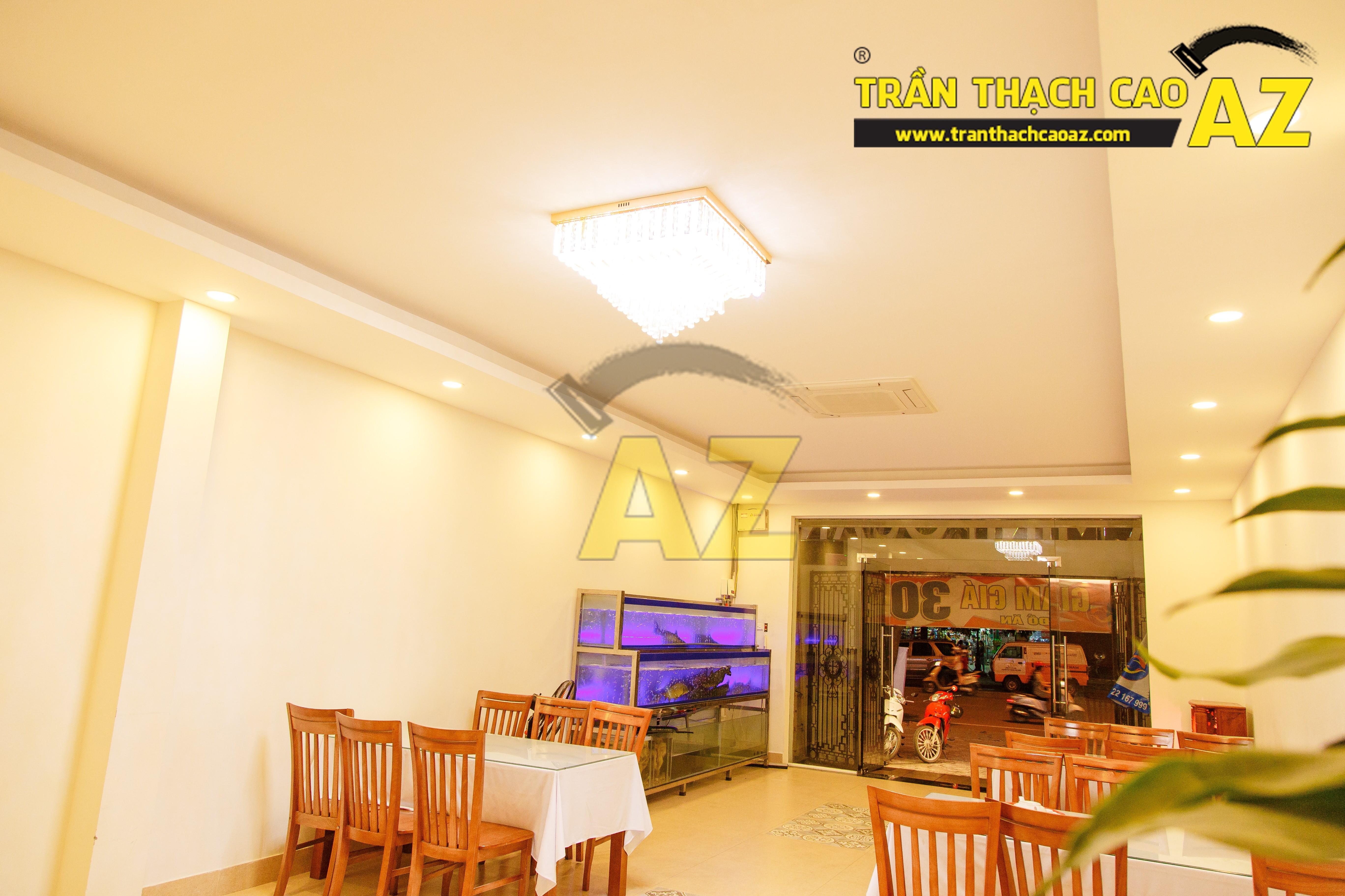Mẫu trần thạch cao nhà hàng đẹp 09