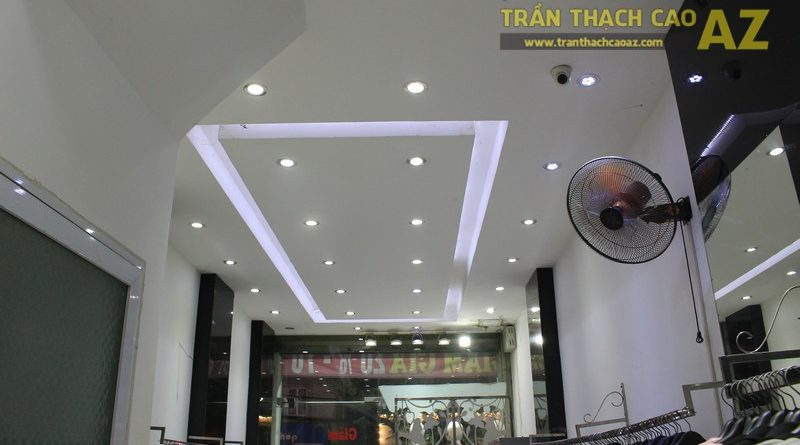 Amirossi hút khách nhờ thiết kế trần thạch cao shop nhỏ đẹp bắt mắt tại số 227, Chùa Bộc