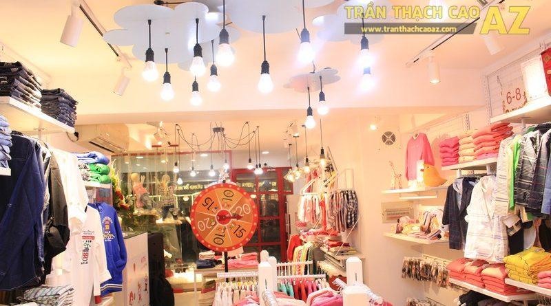 Cách bố trí đèn trần thạch cao đẹp độc đáo của shop KUTIE BY WINNY Phạm Ngọc Thạch