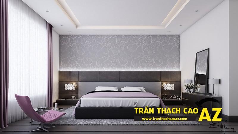 Mẫu trần thạch cao phòng ngủ đẹp dành cho không gian khoảng 15m2 - 02