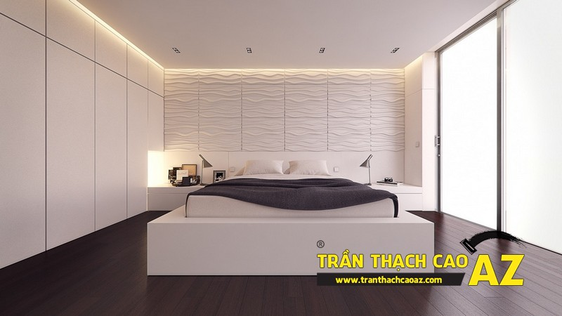 Mẫu trần thạch cao phòng ngủ đẹp dành cho không gian khoảng 15m2 - 06
