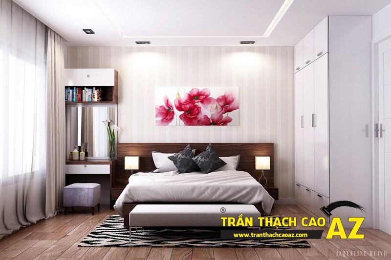 Mẫu trần thạch cao phòng ngủ đẹp dành cho không gian khoảng 15m2 - 03