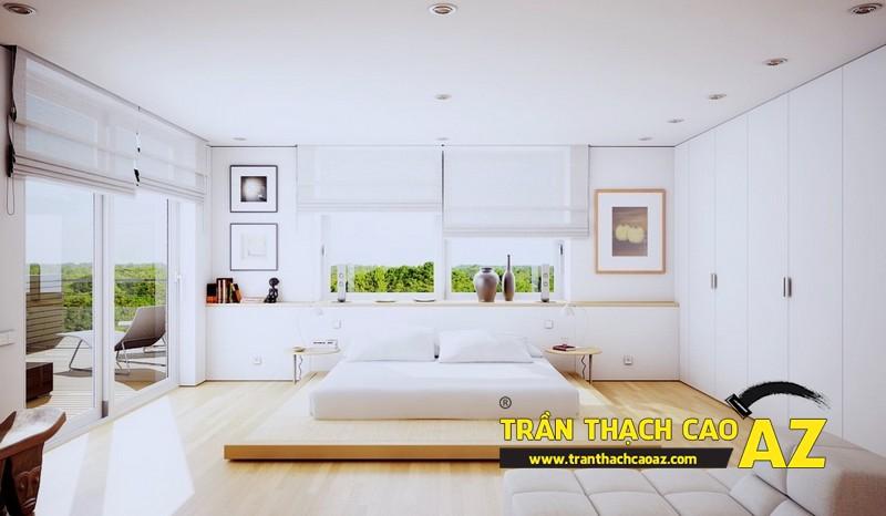 Mẫu trần thạch cao phòng ngủ đẹp dành cho không gian khoảng 15m2 - 01