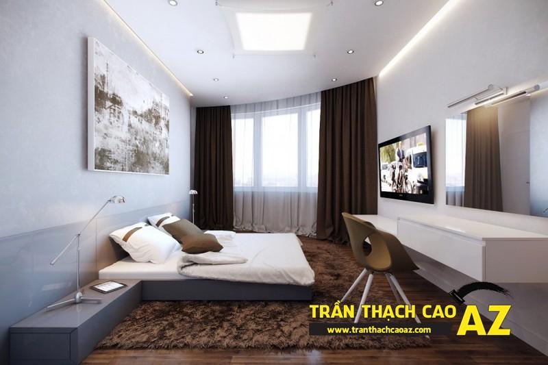 Mẫu trần thạch cao phòng ngủ đẹp dành cho không gian khoảng 15m2 - 05