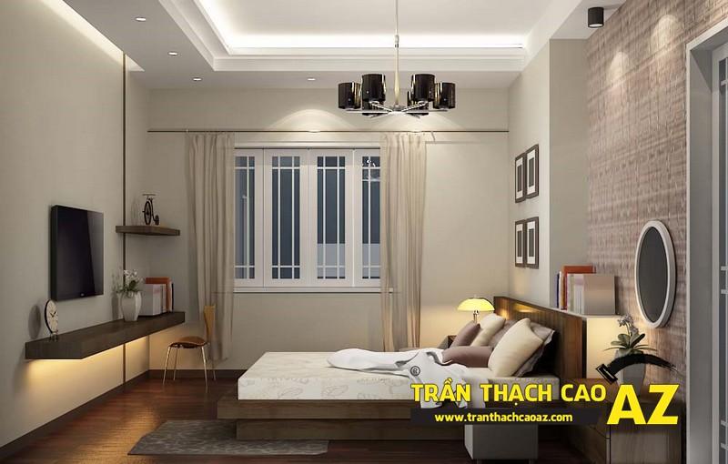 Mẫu trần thạch cao phòng ngủ đẹp dành cho không gian khoảng 15m2 - 08