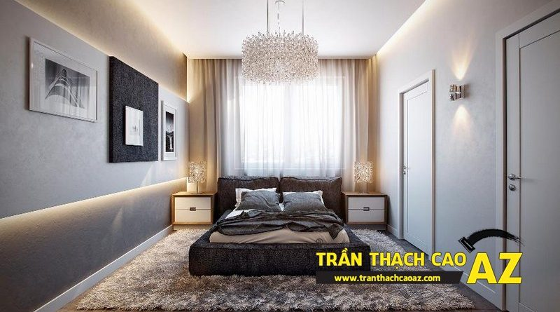 Cách chọn mẫu trần thạch cao phù hợp cho phòng ngủ rộng 15m2