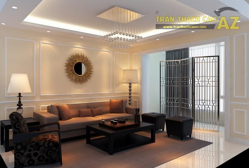 Cách chọn mẫu trần thạch cao đẹp hiện đại cho phòng khách từ 15m2