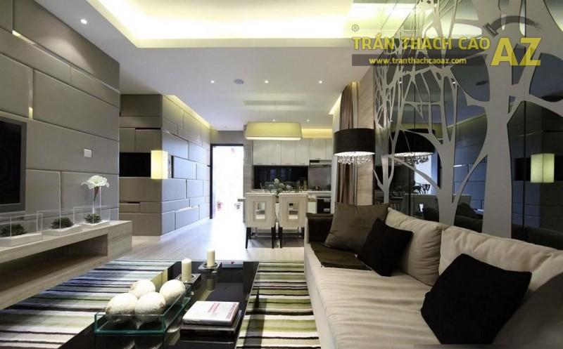 Mẫu trần thạch cao phòng khách nhỏ đẹp nhất - 11