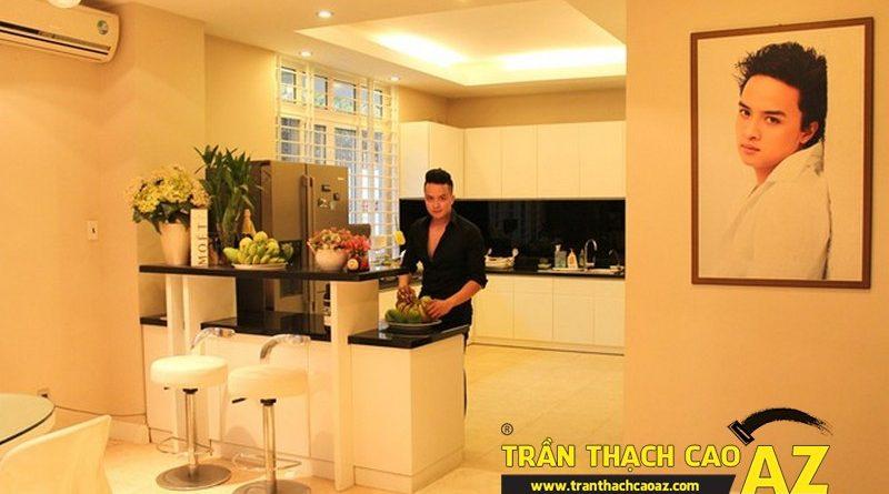 Phòng bếp của Cao Thái Sơn hết sức ấm ấp