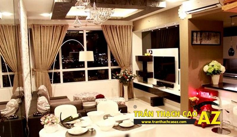 Toàn cảnh phòng ăn tại căn hộ trước đây Cao Thái Sơn