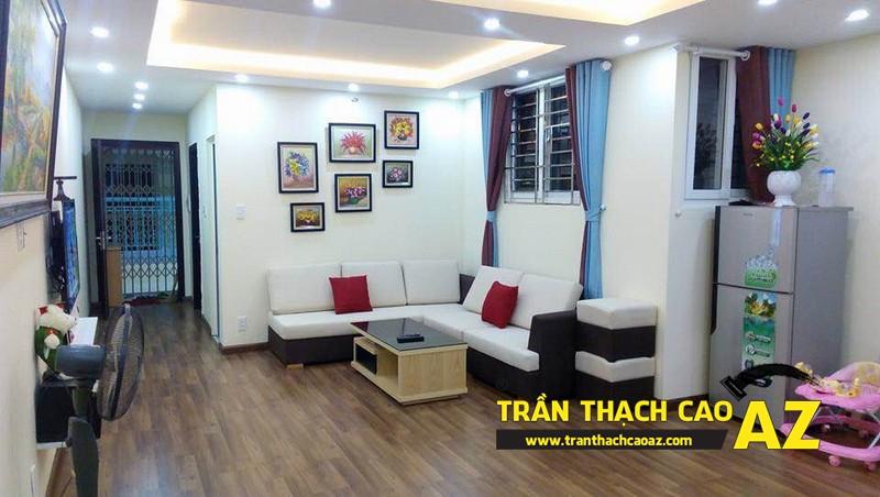 Hoàn thiện thi công trần thạch cao cho căn hộ chung cư Kiến Hưng, Hà Đông, Hà Nội