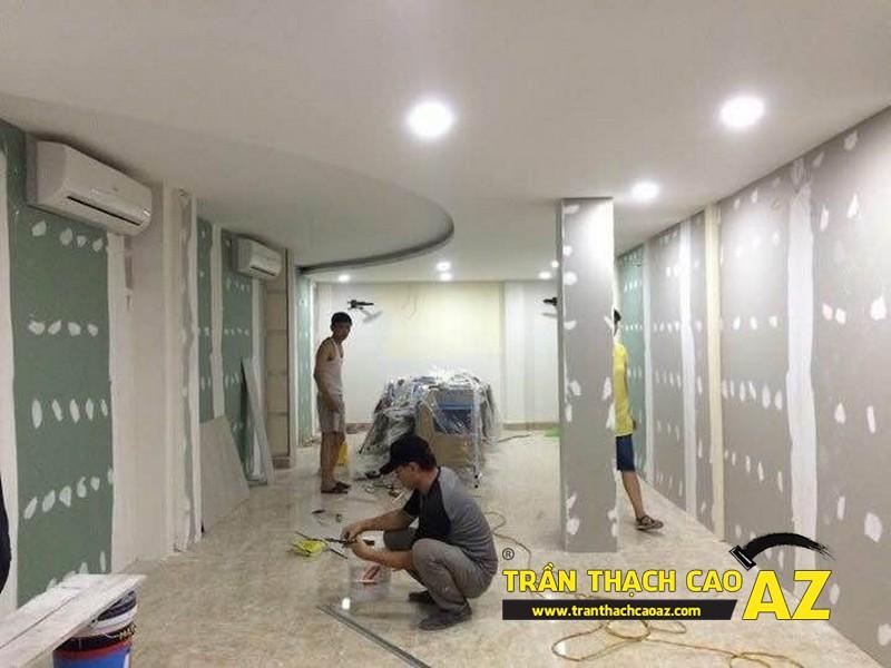 Hoàn thiện thi công trần thạch cao cho cơ sở Tổng đại lý Prudential tại Hà Nội 03