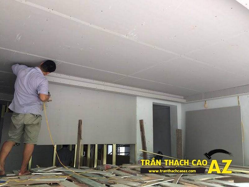 Hoàn thiện thi công trần thạch cao cho cơ sở Tổng đại lý Prudential tại Hà Nội 02