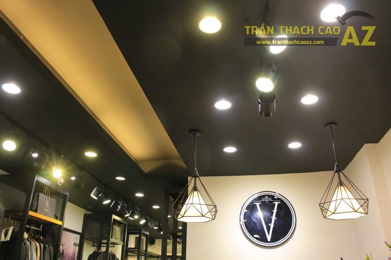 Hoàn thiện thiết kế trần thạch cao cho cửa hàng thời trang Veneto 259 chùa Bộc