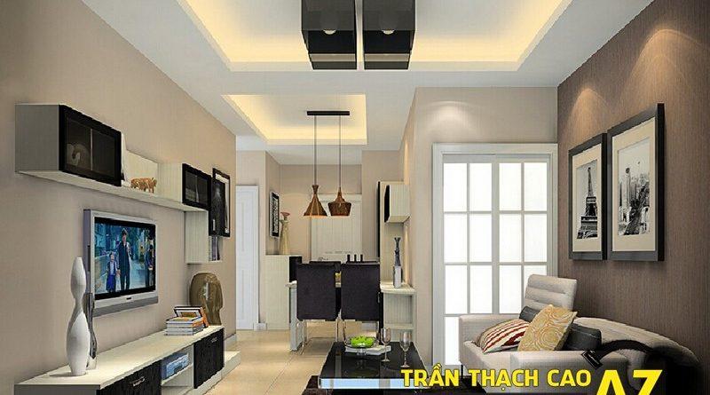 Làm trần thạch cao phòng khách nhỏ, nên chọn mẫu như thế nào?