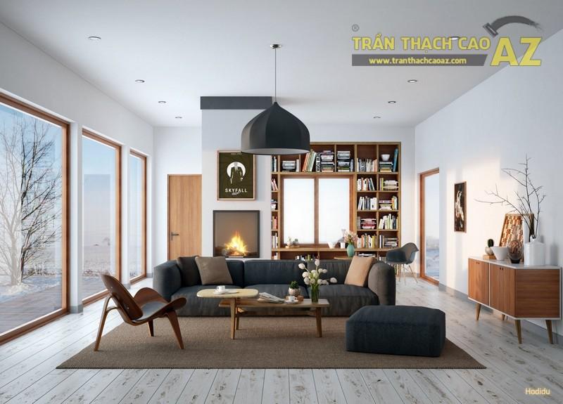 Chọn mẫu trần thạch cao đẹp phù hợp với phong cách nội thất