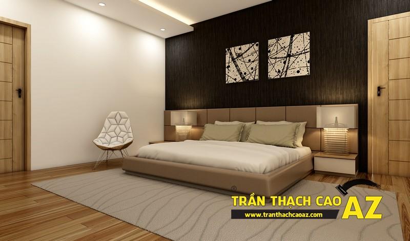 Thiết kế trần thạch cao phòng ngủ căn hộ CT2B Nam Đô, Trương Định