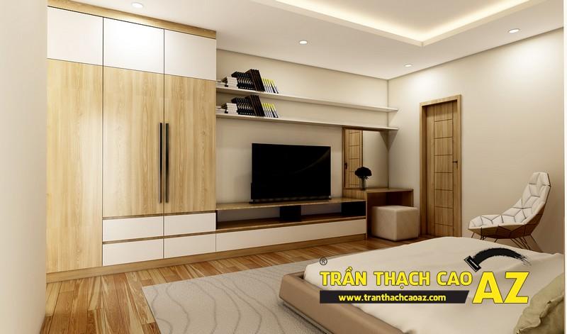Thiết kế trần thạch cao phòng ngủ căn hộ CT2B Nam Đô, Trương Định,