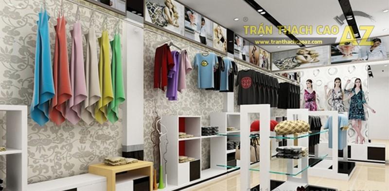 Mẫu trần thạch cao ấn tượng cho cửa hàng có diện tích nhỏ