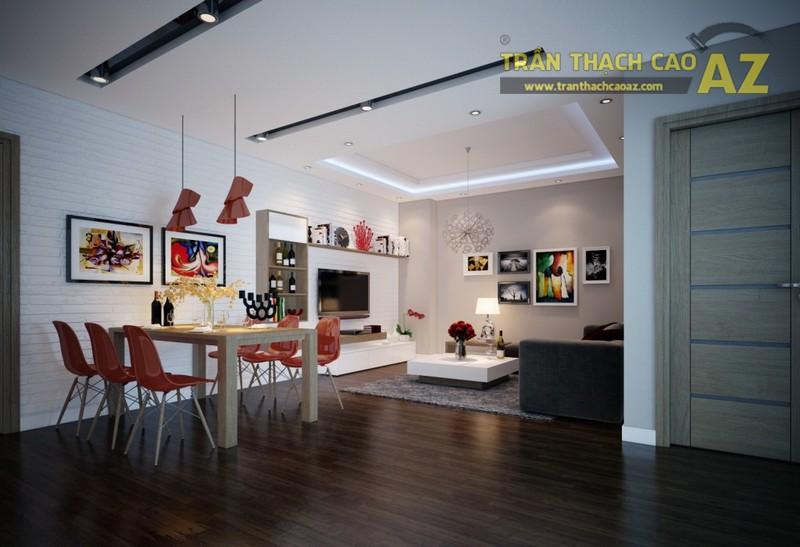 Mẫu trần thạch cao phòng khách nhỏ đẹp nhất 2016