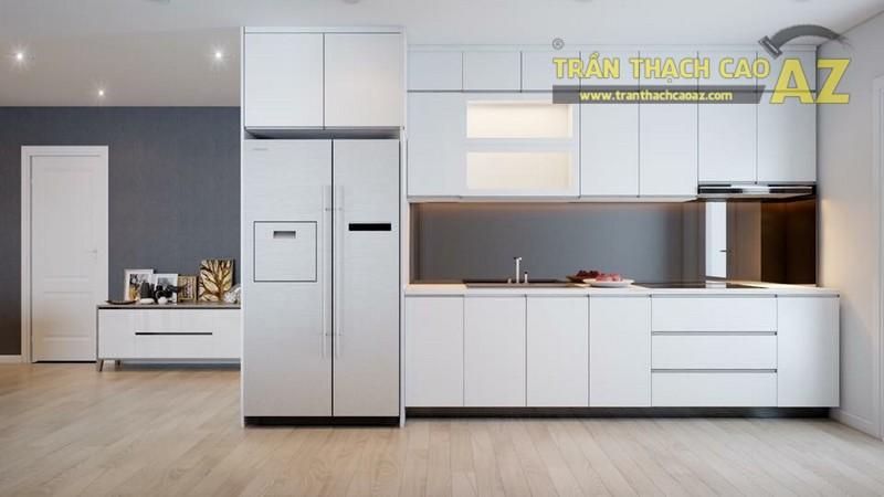 Một góc trần thạch cao phòng bếp nhà anh Hoàn