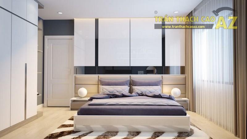 Mẫu trần thạch cao phòng ngủ đẹp của con trai anh Hoàn - 01