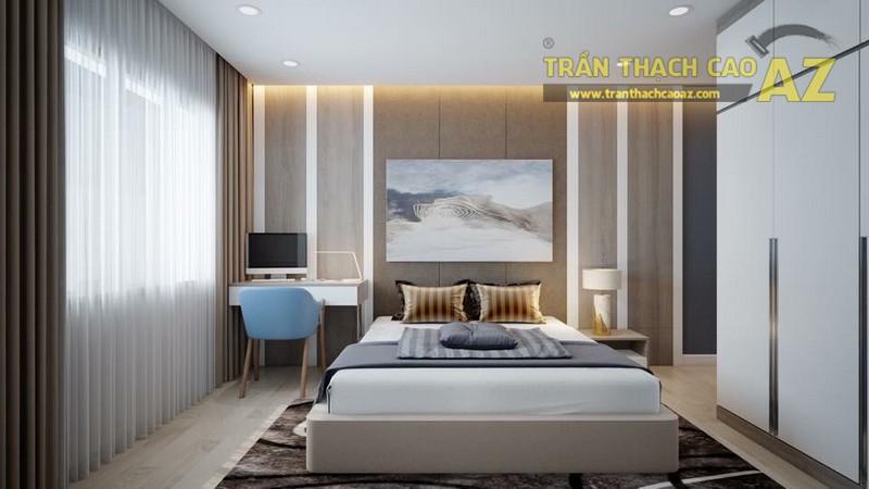 Mẫu trần thạch cao phòng ngủ vợ chồng nhà anh Hoàn đẹp ngọt ngào - 02