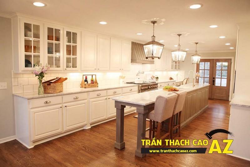 Mẫu trần thạch cao phòng bếp đẹp phong cách vintage có diện tích từ 15m2 - 11