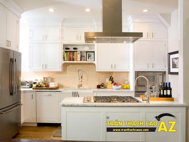 Mẫu trần thạch cao phòng bếp đẹp phong cách vintage có diện tích từ 15m2 - 06