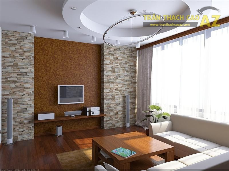Mẫu trần thạch cao phòng khách nhỏ đẹp nhất 2016 - 05