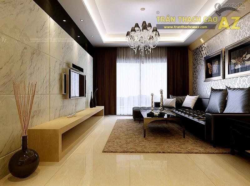 Mẫu trần thạch cao phòng khách nhỏ đẹp nhất 2016 - 06