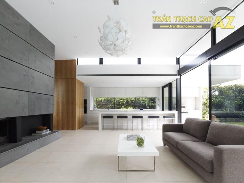 Mẫu trần thạch cao phòng khách nhỏ đẹp nhất 2016 - 01