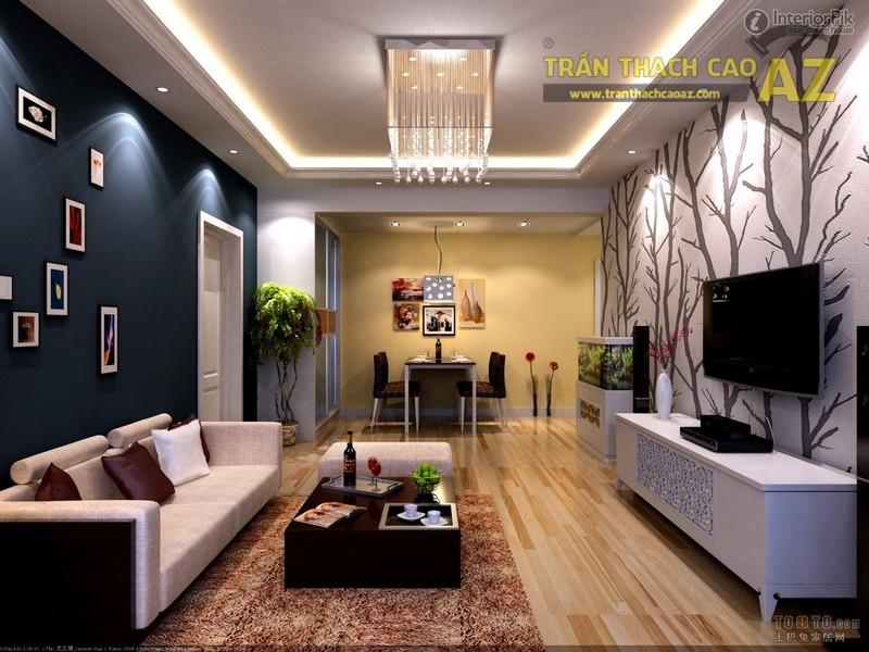 Mẫu trần thạch cao phòng khách nhỏ đẹp nhất 2016 - 08
