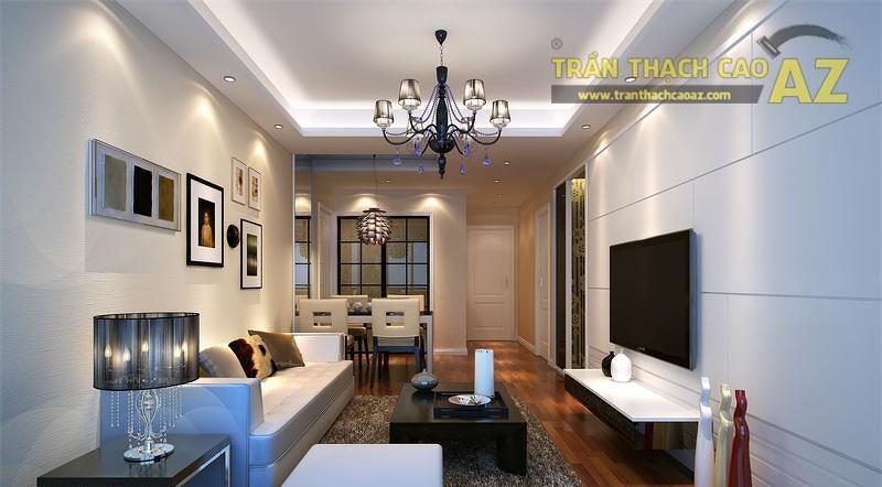 Vì sao phòng khách nhỏ chỉ phù hợp với mẫu trần thạch cao đơn giản?