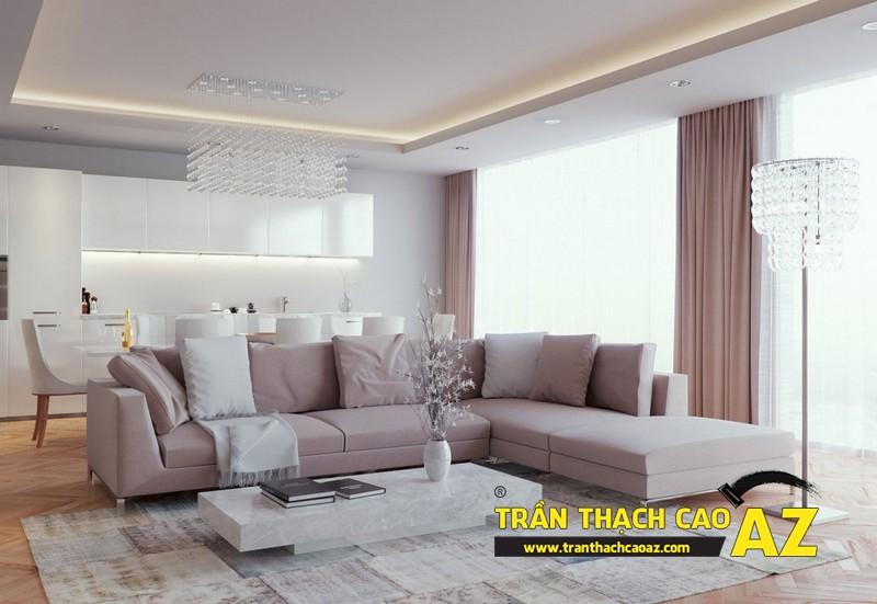 Mẫu 3 - Trần thạch cao phòng khách đẹp hiện đại